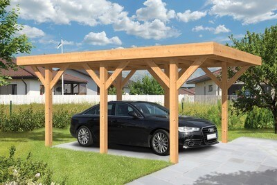 carport overkapping douglas 5 x 3 meter cendic. Black Bedroom Furniture Sets. Home Design Ideas